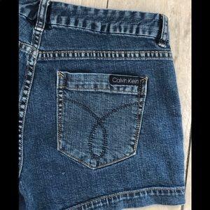 Calvin Klein denim shorts